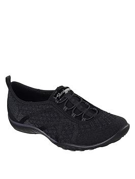 skechers-breathe-easy-fortuneknit-plimsoll-pumps-grey
