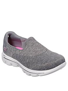 ea1ab63d0d6bcf Skechers Go Walk Evolution Ultra Amazed Plimsoll Shoes - Grey