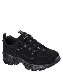 skechers-dlites-play-on-bungee-leather-trainersnbsp-black