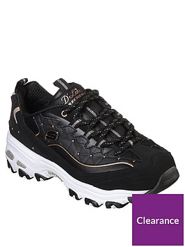 skechers-dlites-glamour-feels-lace-up-leather-trainers-black