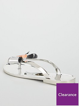 b36f4d9f3 ... Ted Baker Glamari Synthetic Flip Flop - Silver. View larger