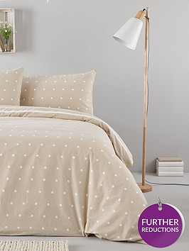 everyday-collection-brushed-cotton-printed-spot-duvet-cover-set-natural
