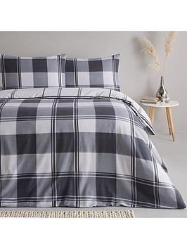 Everyday Collection Everyday Collection Brushed Cotton Check Duvet Cover  ... Picture