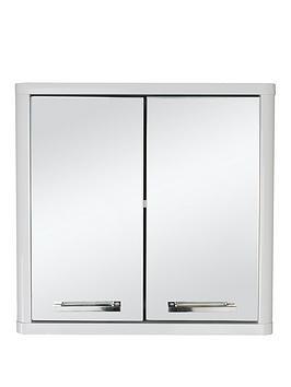 Lloyd Pascal Lloyd Pascal Luna Hi-Gloss 2 Door Mirrored Bathroom Cabinet -  ... Picture