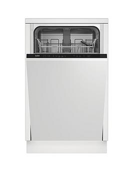 Beko Beko Dis15012 Integrated 10-Place Slimline Dishwasher - White -  ... Picture