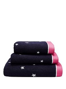joules-navy-star-100-cottonnbspbath-towel-range