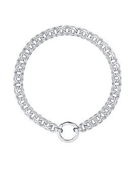 karen-millen-hoop-chain-necklace-silver