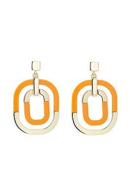 karen-millen-contrast-pop-earrings-gold