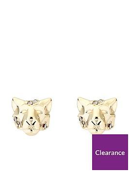 karen-millen-leopard-crystal-stud-earrings-gold