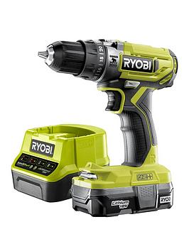 Ryobi Ryobi Combi Drill Kit (R18Pd2-113, 1.3Ah Battery, 2.0A Charger) Picture