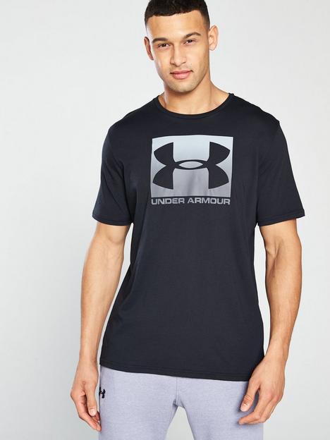 under-armour-trainingnbspboxed-sportstylenbsplogo-t-shirt-blackgrey