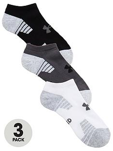 under-armour-heatgear-tech-3-pack-no-show-socks-white