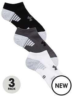 under-armour-heatgear-tech-3-pack-no-show-socks-white