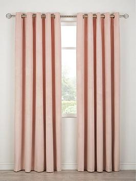 Very Thermal Velour Lined Eyelet Curtains Picture