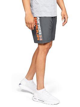 under-armour-woven-graphic-wordmark-shorts-greyorange