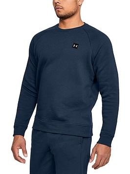 Under Armour Under Armour Rival Fleece Crew Neck Sweat - Navy Picture
