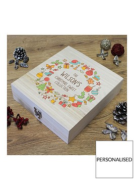 personalised-retro-sweets-christmas-wooden-box