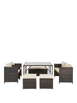P C Bay 8 Seater Cube Set Garden Furniture Littlewoods