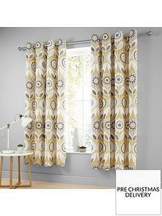 catherine-lansfield-annika-retro-bloom-eyelet-curtains