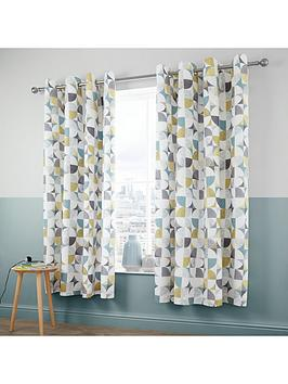 Catherine Lansfield Catherine Lansfield Retro Circles Eyelet Curtains Picture