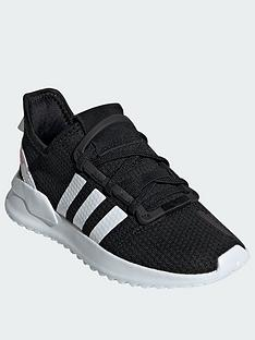 893e8e0ab287 adidas Originals U Path Run Childrens Trainers - Black White