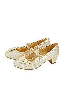 accessorize girls gold bow flamenco shoe