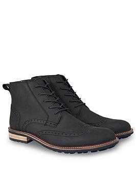 joe-browns-waxed-leather-brogue-boots