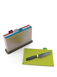 joseph-joseph-index-chopping-board-silver-elevate-6in-chefs-knife