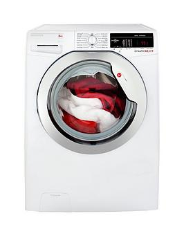 hoover-dynamic-next-dxoa48c3-8kg-load-1400-spin-washing-machine-with-one-touch-whitechrome
