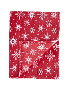 gallery-snowflake-flannel-fleece-throw