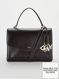 dkny-paige-sutton-leather-medium-satchel-bag-black