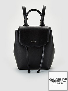 dkny-paige-convertible-sutton-leather-small-backpack-black