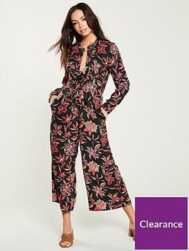 maison-scotch-knot-detail-printed-jumpsuit-multi