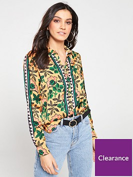 maison-scotch-printed-shirt-with-contrast-panels-print