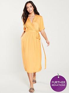 maison-scotch-midi-length-wrapover-dress-mango
