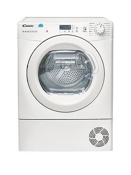 candy-cs-h8a2le-8kg-heat-pump-sensor-tumble-dryer-with-smart-touch-white