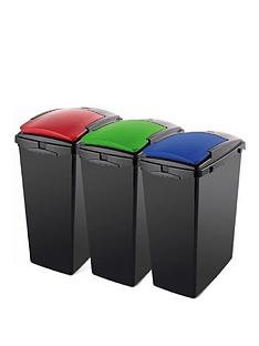 addis-set-of-three-40-litre-recycling-utility-bins