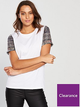 v-by-very-tweed-sleeve-t-shirt-whitenbsp