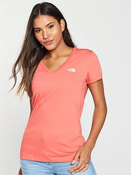the-north-face-simple-dome-tee-coralnbsp