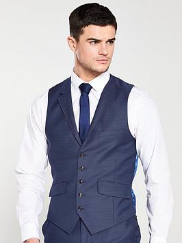 ted-baker-sterling-birdseye-waistcoat-blue