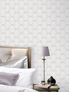 ARTHOUSE Arthouse Scandi Leaf Wallpaper &Ndash; Grey Picture