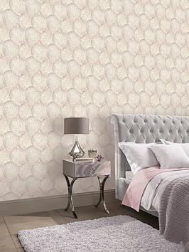 ARTHOUSE  Arthouse Beech Leaf Wallpaper &Ndash; Blush