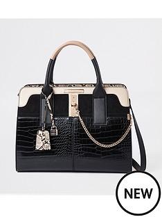 river-island-river-island-croc-mix-detail-tote-bag-black