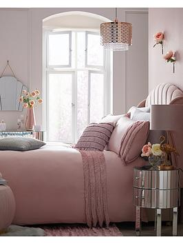 Michelle Keegan Home Michelle Keegan Home Pink Fringe Duvet Cover Set Picture