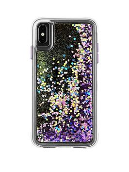 case-mate-waterfall-snow-globe-effect-protective-case-in-purple-glow-for-iphone-xr