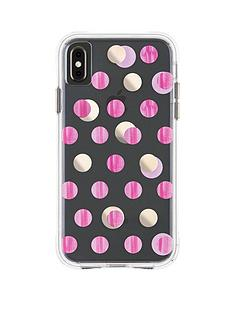casemate-wallpaper-ultra-slim-protective-case-in-pink-metalic-dot-print-for-iphone-xs-max
