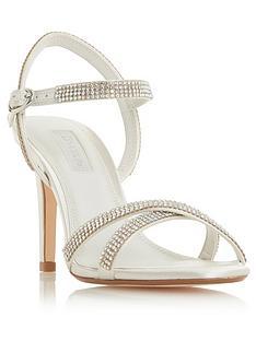 f4f2c5d3ee0b Dune London Bridal Magikal Bejewelled Heeled Sandal Shoes - Ivory