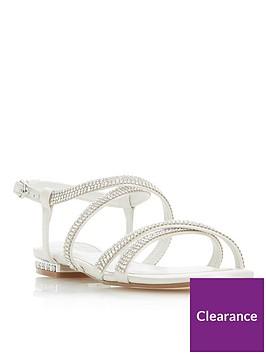dune-london-bridal-nicest-bejewellednbspflat-sandals--nbspivory