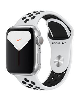 Apple Apple Watch Nike Series 5 (Gps), 40Mm Silver Aluminium Case With  ... Picture