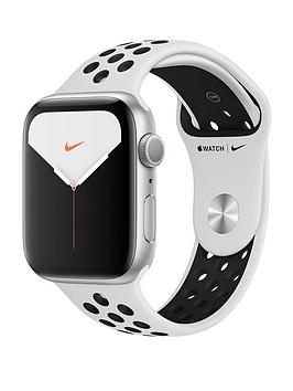 Apple   Watch Nike Series 5 (Gps), 44Mm Silver Aluminium Case With Pure Platinum/Black Nike Sport Band